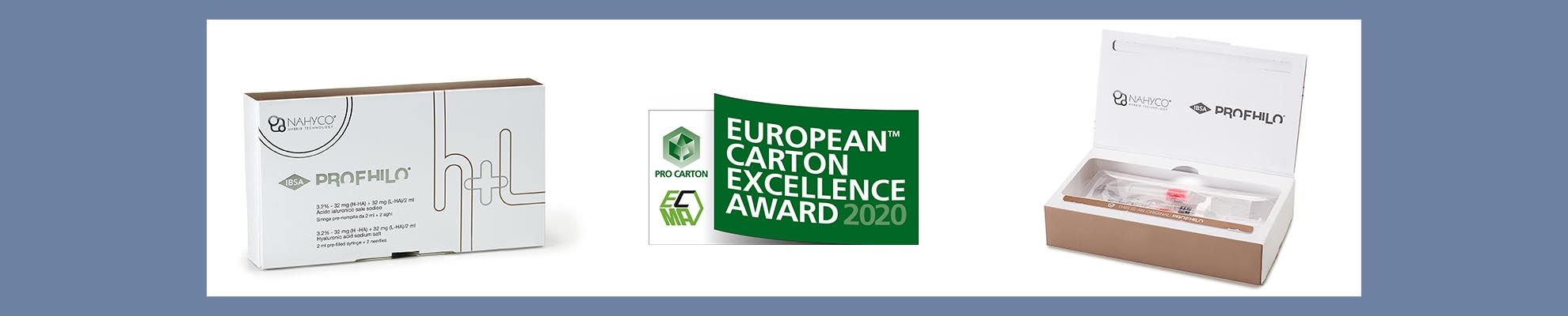 The Profilo packaging is in the running for the European Carton Excellence Award