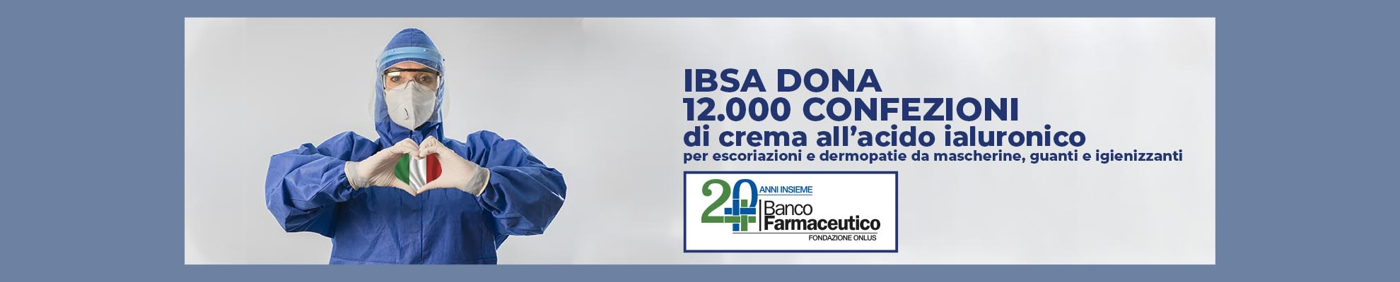 IBSA donates 12,000 packs of hyaluronic acid cream to Banco Farmaceutico
